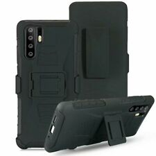 For Huawei P20 P30 Pro Lite Rugged Armor Hard Case Stand Cover Belt Clip Holster