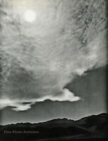 1950s Vintage ANSEL ADAMS Death Valley Clouds Landscape Photo Gravure Art 16x20