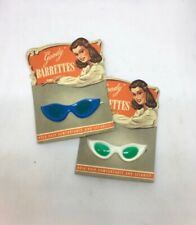 Vintage 50s Sunglasses novelty Hair Clips Slides Barrettes Deadstock