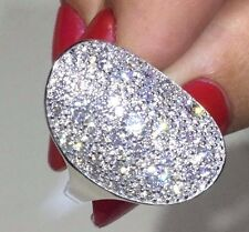 """Sterling Silver Pave Set CZ  """" Twilight """" Ring"""