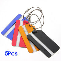 5 Pcs Holiday Metal Travel Luggage Baggage Suitcase ID Tag Buckle Address Label
