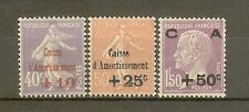 "FRANCE STAMP TIMBRE N° 249/51 ""CAISSE AMORTISSEMENT 2eme SERIE 1928"" NEUF xx TTB"