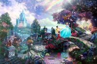Thomas Kinkade Cinderella Wishes Upon A Dream 12x16 Classic Edition Disney