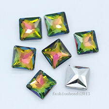 12p 10mm square point back crystal glass stone foiled rhinestones jewels Chatons