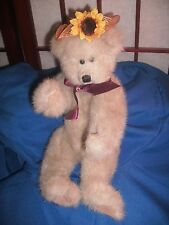1993 Ty Attic Collection Brown Bear with Sun Flower Hat Reg. No.1965