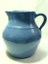 1930's Unmarked Uhl Blue Pottery Pitcher