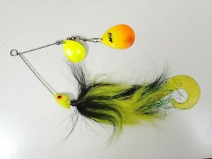 "Vtg MG Black Chartreuse Bucktail| 7 3/4""/ 2oz