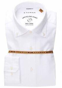 ETERNA Hemd Modern Fit Gr.41/42 L Weiß Oxford Button-Down-Kragen