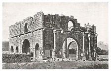 D0560 Tunisia - Timgad - Pretorio Presidio Romano - Stampa d'epoca - 1930 print