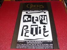 COLL.J.LE BOURHIS DANSE BALLET/ AFFICHE OPERA PARIS GARNIER ROLAND PETIT 1990