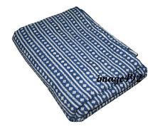 Indian Handmade Vintage Kantha Quilt Blanket King Bedspread Ethnic Cotton Throw