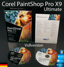 Corel PaintShop Pro X9 Ultimate Vollversion Box + DVD, Handbuch (PDF) DE OVP NEU