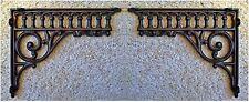 2 Victorian Style Cast Iron WALL CORNER or SHELF BRACKETS ~ EASTLAKE DESIGN~