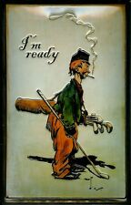 I'm Ready Golf Blechschild Schild 3D geprägt gewölbt Metal Tin Sign 20 x 30 cm
