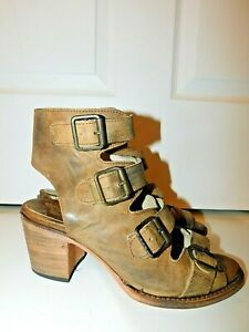 Freebird by Steven Quail Leather Buckle Sandals size 9