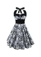Polyester Floral Retro Dresses for Women