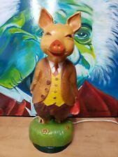 Vintage Postermat Pig Lamp Light Saugus California Fancy Farmlight Piggy Leviton