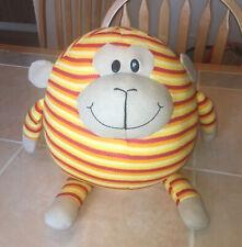 Mushabelly Pot Bellies Plush Doll Figure Orange Stripe 87% Foam Bead Toy Monkey