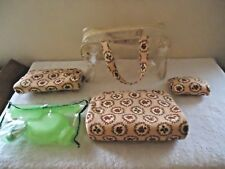 "5 Piece See Through Travel Purse Set "" GREAT ITEM FOR ANY TRAVEL OR VACATION """