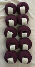 Rowan Fine Lace 80% Alpaca 20% Wool Knitting Yarn 10 x 50g - Dark Burgundy - New