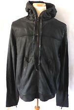 HUDSON JEANS WRECKED HOODIE BULLETT**RAW BLACK**LARGE*$325.00*SPECIAL SALE PRICE