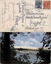 """TERRE REDENTE-BRIONI a 17.7.1921-10c+25c(82/83) su cartolina """"Hotel Carmen"""""""