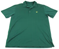 Amen Corner Masters Golf Polo Shirt Green Measures Large L Cotton Short Sleeve