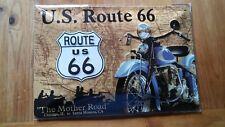 route 66 Map Blechschild 20 X 30 Cm