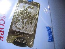 Horoscope Scorpio Scorpion Zodiac 24K Gold plated metal Bookmark book mark JAPAN