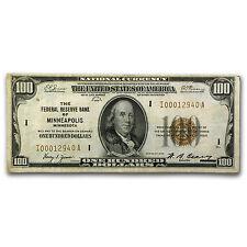 1929 (I-Minneapolis) $100 Brown Seal FRBN VF - SKU #89042