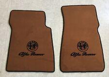 Autoteppich Fußmatten für Alfa Romeo Spider 1983-94 Cognac L+Schrift Velours Neu