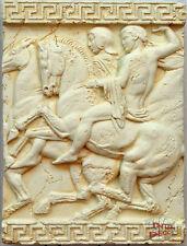 Griechischer Wandrelief Relief 3D Mäander Bild Wandbild Skulptur Stuckgips
