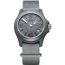 Victorinox Swiss Army Men's Quartz Watch Grey Dial Nylon Strap 241515