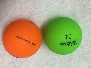 24 Titleist Velocity Matte Mixed 5A/4A Mixed (Green/  Orange) Balls