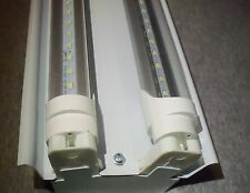 4 FT LED Light Fixture With T8 LED Bulbs Shop And Garage Clear Bulbs