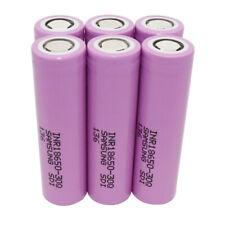 6X 18650 Batterie 3000mAh 3.7V Flat Top High Drain Li-ion Rechargeable Batterie