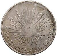 MEXICO 8 REALES 1875 ZS JA #t133 335