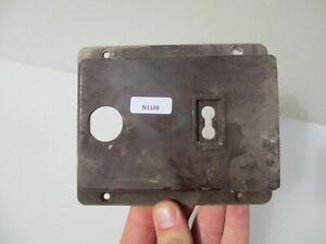Vintage Bakelite Door Lock Cover Case Casing Antique Old IRIS