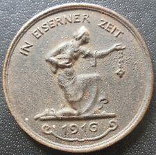 ✚8454✚ German WW1 Gold Donation Commemorative Iron Medal 1916 IN EISERNER ZEIT