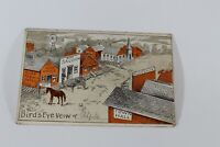 Vintage Tarjeta Birds Eye View Rare Early 1900's Collectible Antique Post Card