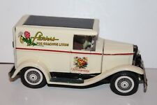 VERY NICE TIN BANDAI FRICTION CUSTOM MODEL A FORD FLOWER STORE DELIVERY TRUCK