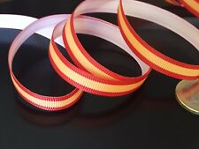 10 Metres Band Fabric Flag Spain Spanish Of 10mm (CINTA-01) Bracelet