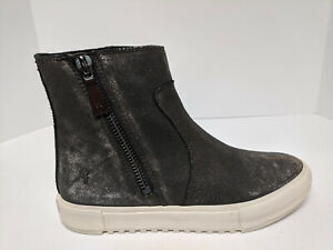 FRYE Gia Lug Zip Bootie, Anthracite, Womens 8 M