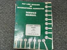 International Harvester Ih 60 135 16 153 175 281 Engine Service Repair Manual