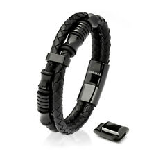 SERASAR Lederarmband Herren Herrenarmband für Männer in schwarz Armband Herren