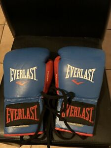 EVERLAST PowerLock 10oz Fight Gloves Worn Once Boxing Gloves Rare 3 CLR Custom