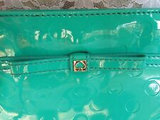 KATE SPADE CROSSBODY, Amy Camillia PVC Polka Dot Embossed, Turquoise Excellent