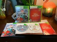 Disney Infinity XBOX 360 Games LOT Both Games COMPLETE +Manuals PRISTINE Shape