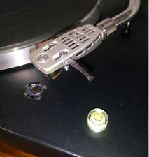 Mini Livella a bolla trasparente fluo per testine giradischi diametro 14mm