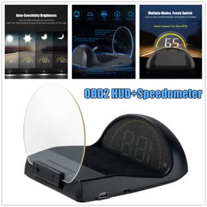 Car SUV HUD OBD2 EUOBD Head Up Display Speedometer Projector RPM Voltage Gauges